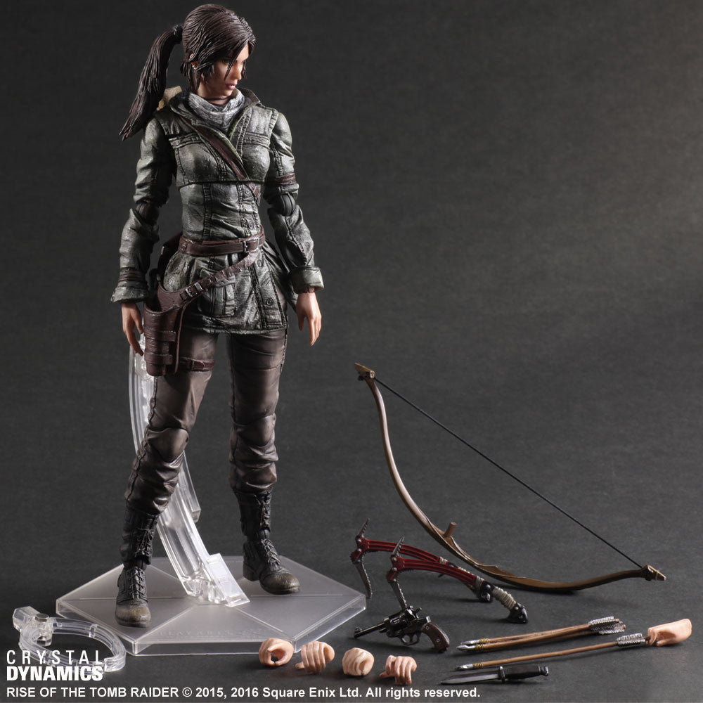 "Rise of the Tomb Raider Lara Croft 10"" Play Arts Kai Action Figure by Square-Enix"