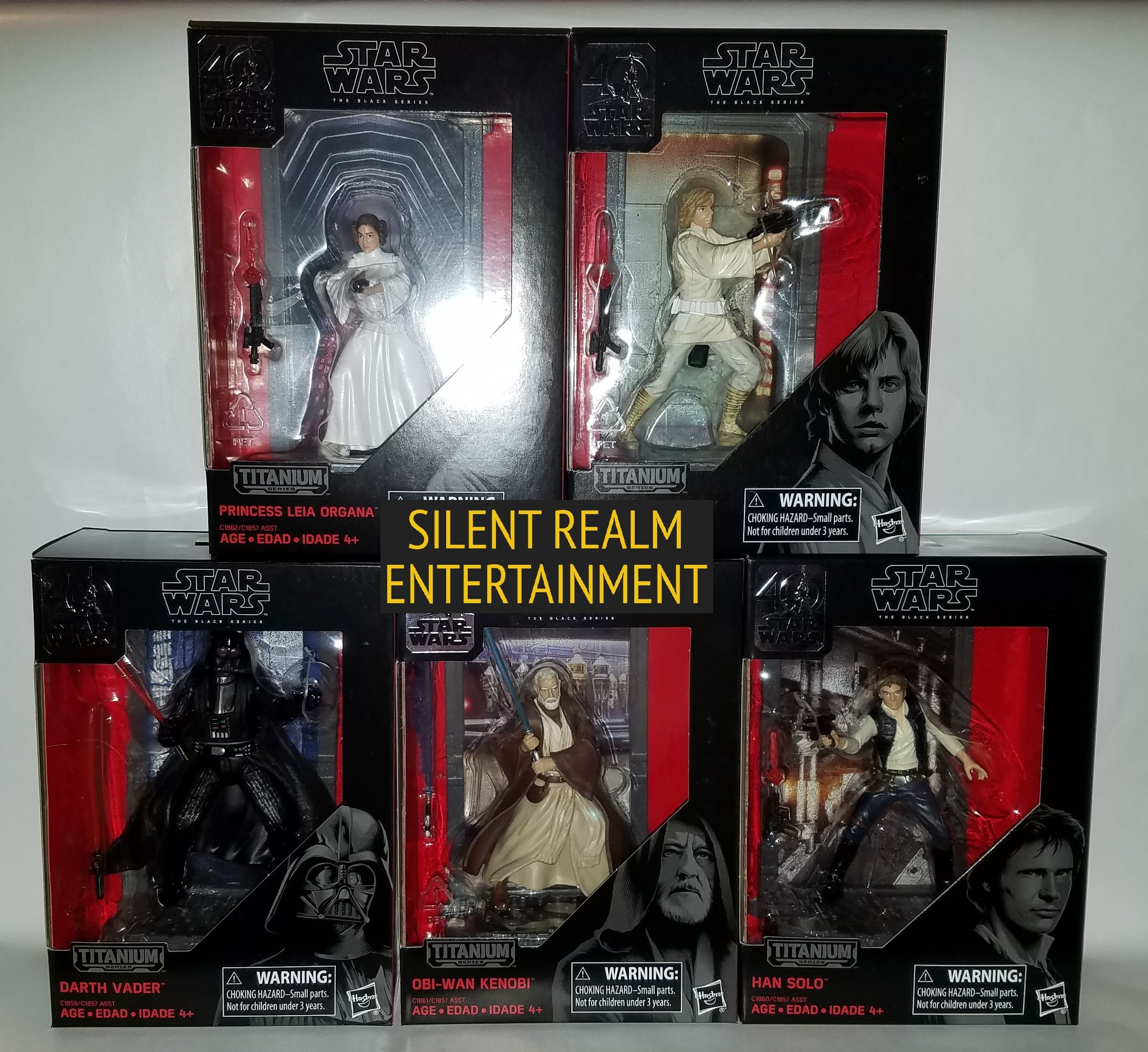 Star Wars 40th Anniversary Black Series Die Cast Action Figures Silent Realm Entertainment