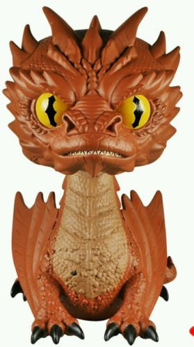 "Hobbit Smaug 6"" Pop! Vinyl Figure w/ Yellow ""Chase"" Eyes Variant Battle of Five Armies #124 by Funko"