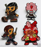 The Last of Us Pin Sets Joel & Ellie plus Clicker & Bloater by Esc Toy