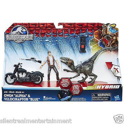Jurassic World Owen Alpha & Velociraptor Blue Capture Vehicles Action Figures - Silent Realm Entertainment - Hasbro