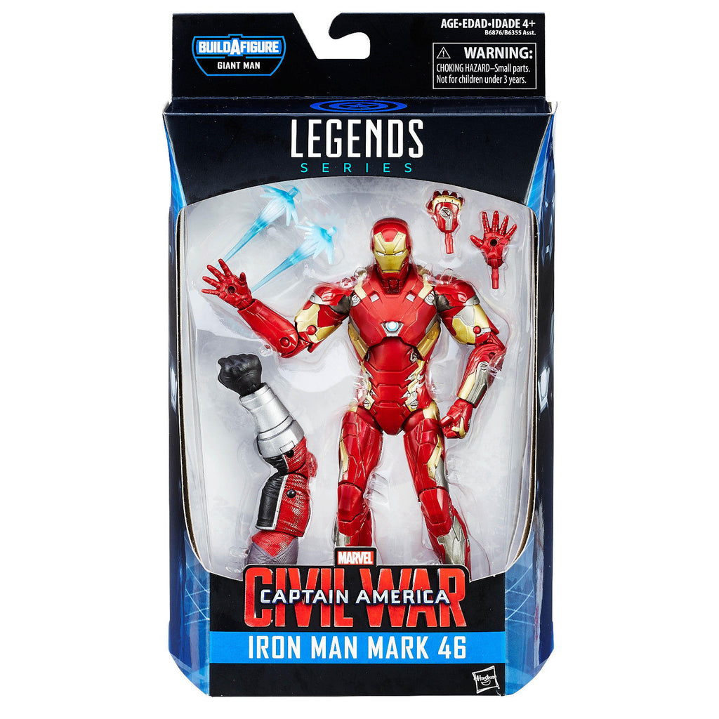 Captain America Civil War Marvel Legends Iron Man Mark 46 Action Figure by Hasbro