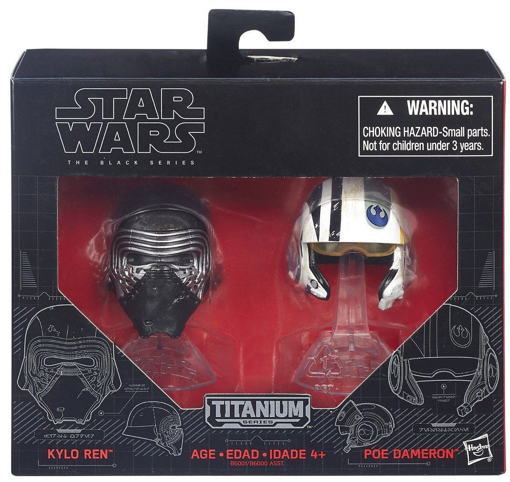 Star Wars Black Series Die-Cast Metal Helmets Kylo Ren & Poe Dameron Set by Hasbro