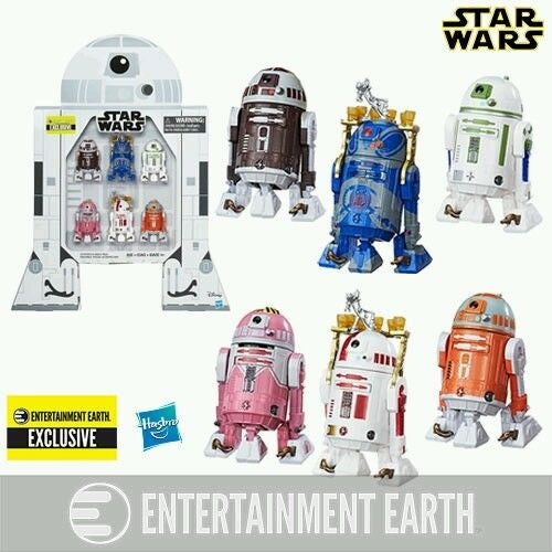 Star Wars Astromech Droids 3 3/4-Inch Figures - EE Exclusive 6-pk Set by Hasbro