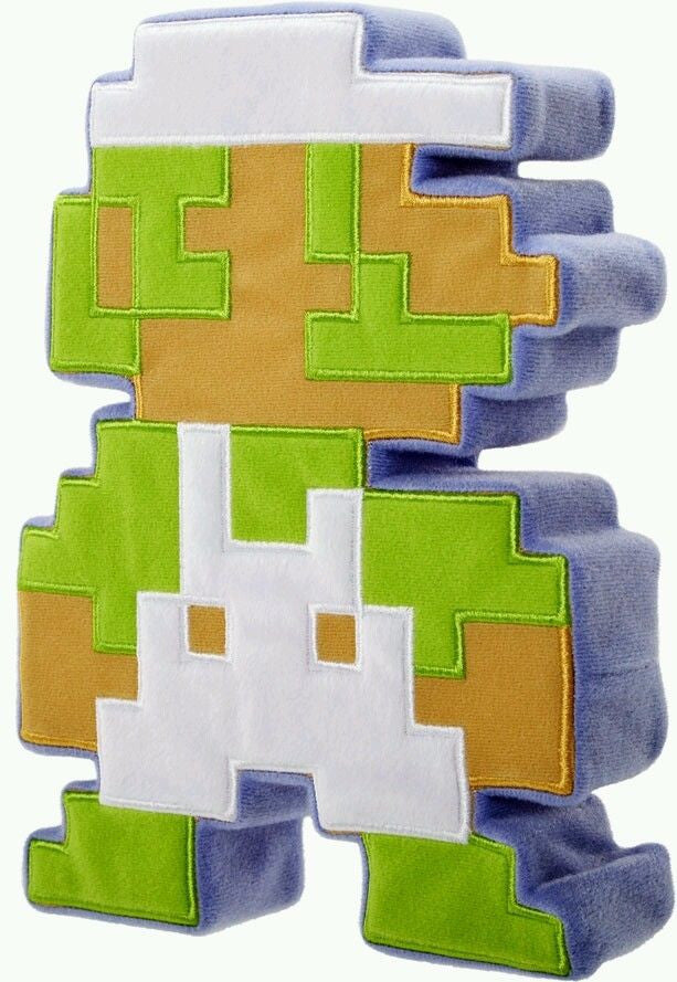 World of Nintendo 8 Bit Plush Luigi - Jakks Pacific - Jakks Pacific