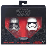 Star Wars Black Series Die-Cast Metal Helmets Captain Phasma & First Order Stormtrooper Set by Hasbro