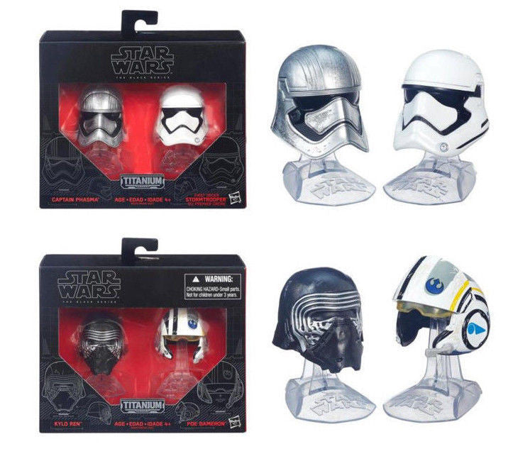 Star Wars Black Series Die-Cast Metal Helmets Wave 1 Complete Set of 4 by Hasbro
