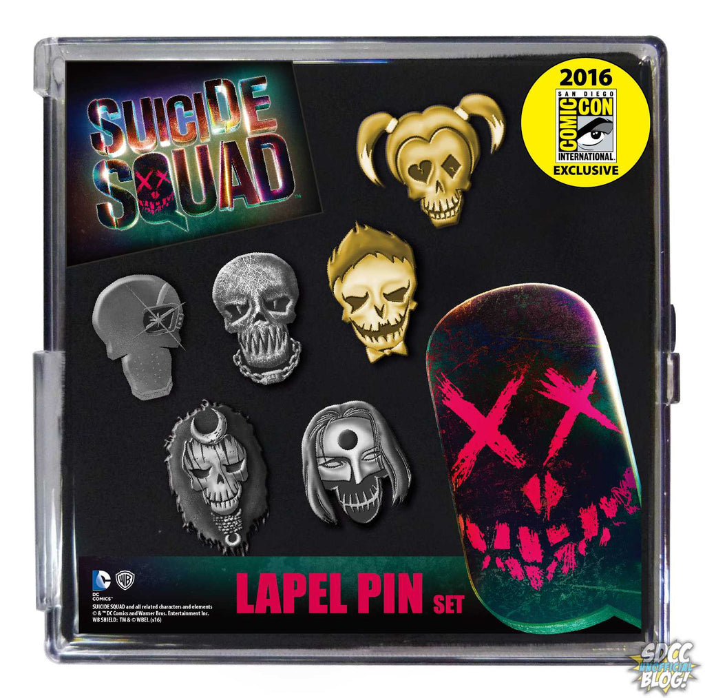 Suicide Squad Faces Pin Set SDCC 2016 Pewter 6-Pack Set Exclusive by Monogram