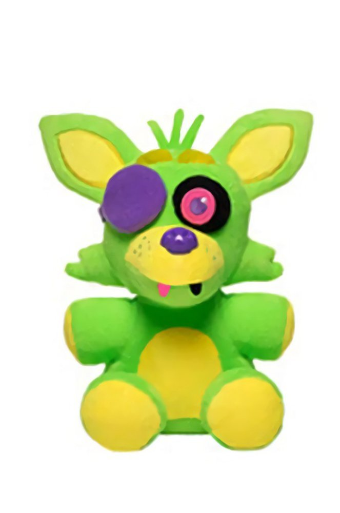 Five Nights at Freddy's 6-Inch Blacklight Foxy Green & Yellow Plush