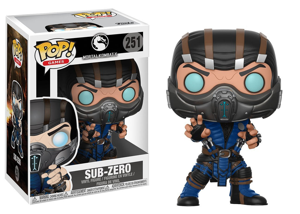 Mortal Kombat Sub-Zero Pop! Vinyl Action Figure #251 by Funko