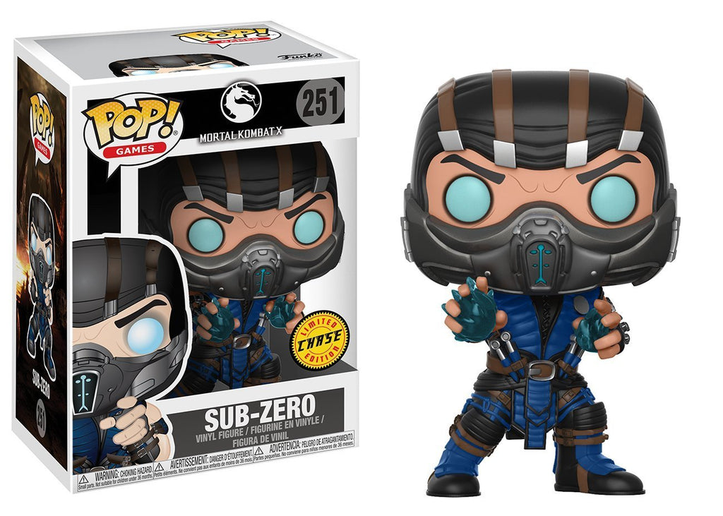 Mortal Kombat Sub-Zero CHASE VARIANT Pop! Vinyl Action Figure #251 by Funko