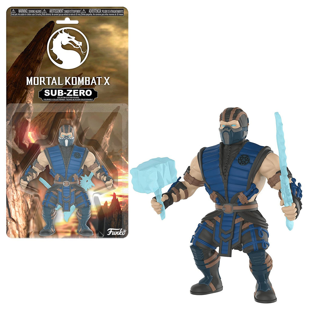 "Mortal Kombat X Sub-Zero 3 3/4"" Savage World Action Figure by Mezco Toyz"