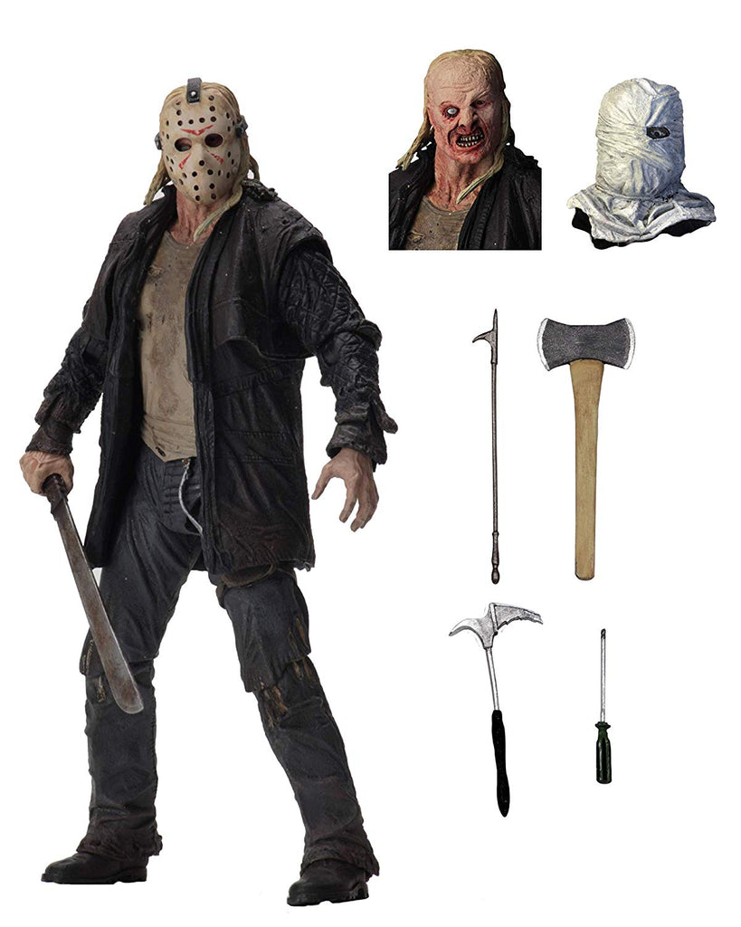 "Friday the 13th Jason Voorhees Ultimate 7"" Scale Action Figure from 2009 Remake Movie by NECA"