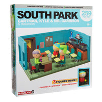 South Park Mr. Garrison Kyle and Cartman with the Classroom Large Construction Set by McFarlane Toys