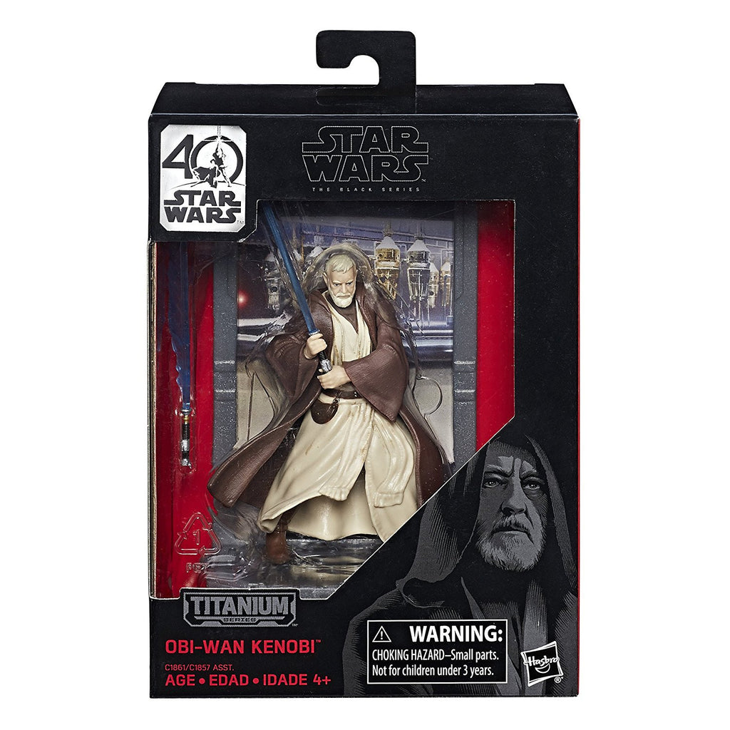 Star Wars Obi-Wan Kenobi Black Series 40th Anniversary Titanium Series 3 3/4-inch Die-Cast Action Figure by Hasbro