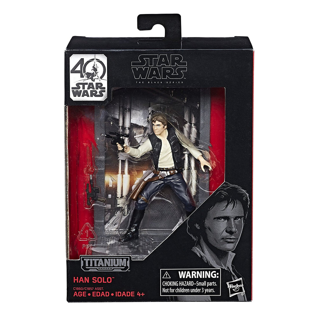 Star Wars Han Solo Black Series 40th Anniversary Titanium Series 3 3/4-inch Die-Cast Action Figure by Hasbro
