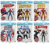 Marvel Legends Super Heroes Vintage 6-Inch Action Figures Set by Hasbro