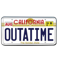 Back to the Future OUTATIME License Plate Prop Replica - Diamond Select - Diamond Select