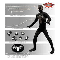 Spider-Man Black Suit One:12 Collective Action Figure 1:12 Scale by Mezco PX