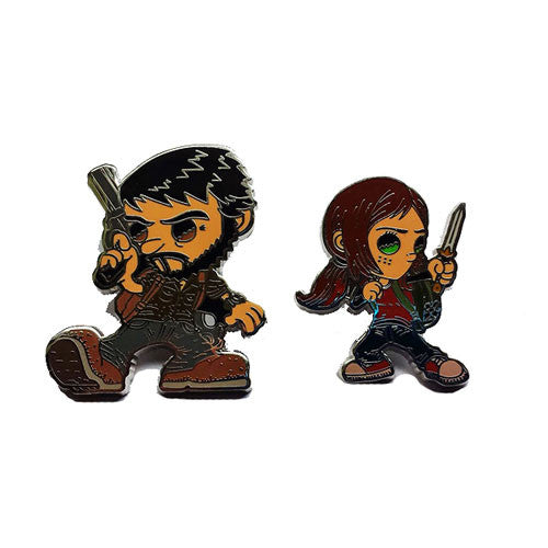 The Last of Us Pin Set Ellie & Joel by Esc Toy
