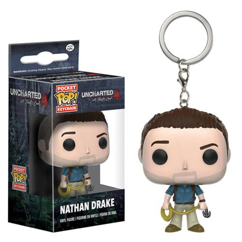 Uncharted 4 A Thief's End Nathan Drake Pop! Keychain Figure by Funko