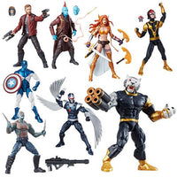 Guardians of the Galaxy Marvel Legends Action Figures Set w/ Titus BAF - Hasbro - Hasbro