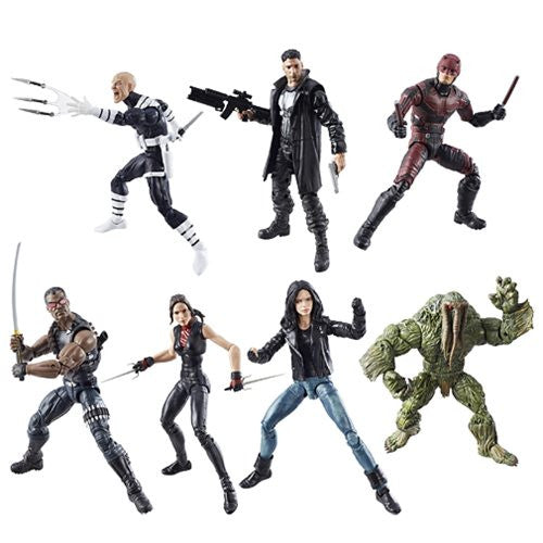 Marvel Knights Legends Action Figures Set w/ Man-Thing BAF by Hasbro