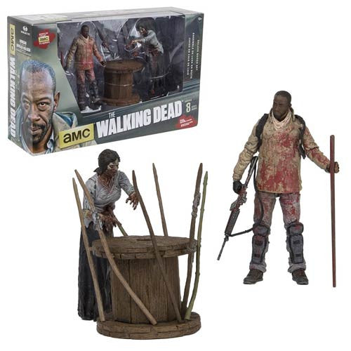 The Walking Dead Morgan With Impaled Walker And Spike Trap Deluxe Mcfarlane Toy Filme & Dvds