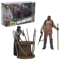 The Walking Dead Morgan and Impaled Walker Spike Trap Deluxe Action Figure by McFarlane Toys