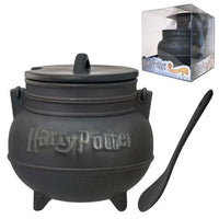 Harry Potter Black Cauldron Ceramic Soup Mug with Spoon - Monogram - Monogram