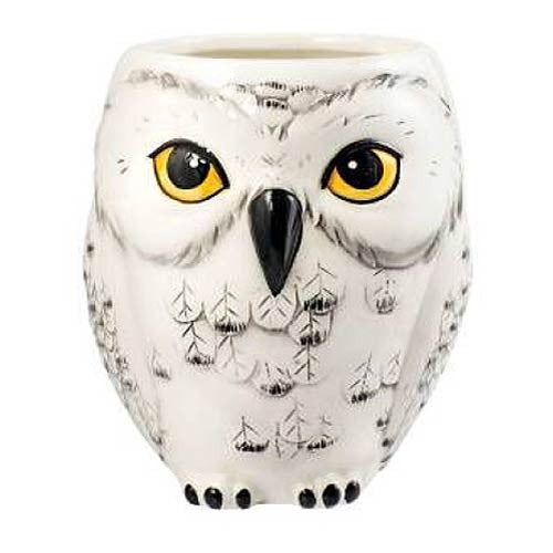 "Harry Potter Hedwig Owl Shaped Ceramic 4 1/2"" Tall Mug - Monogram - Monogram"