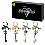 Kingdom Hearts Keyblade Keychain 4-pk Set SDCC 2016 Pewter Key Chains - Monogram - Monogram