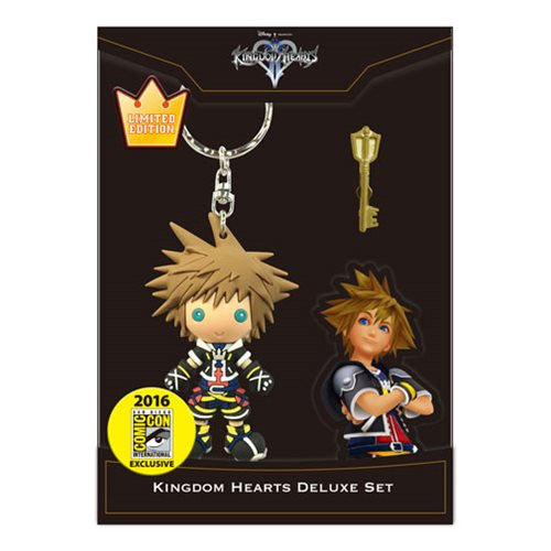 Kingdom Hearts Sora Key Chain & Keyblade Pin SDCC 2016 3D Figural by Monogram