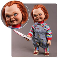 Child's Play Chucky Talking Sneering 15-Inch Doll Action Figure - Mezco Toyz - Mezco Toyz