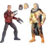 Guardians of the Galaxy Vol. 2 Marvel Legends Star-Lord and Ego Action Figures 2-Pack