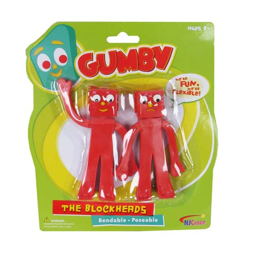 Gumby and Friends Blockheads Bendable 5-inch Figures 2-Pack - NJ Croce - NJ Croce