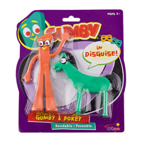 Gumby and Pokey in Disguise Bendable Figure 2-pack - NJ Croce - NJ Croce