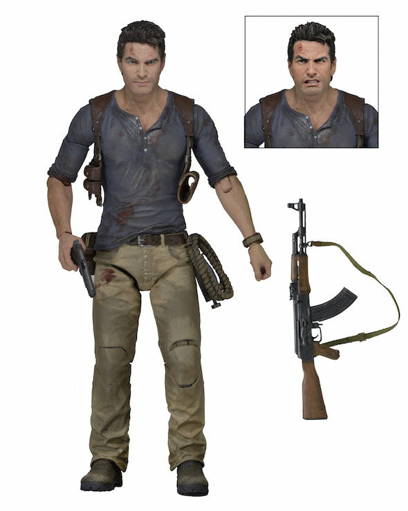 "Uncharted 4 A Thief's End Nathan Drake 7"" Ultimate Action Figure - NECA - NECA"