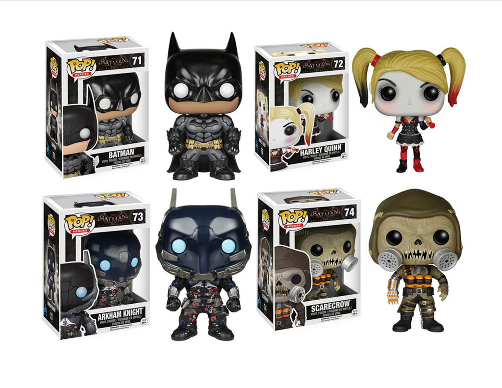 Batman Arkham Knight Funko Pops! Vinyl Figures Set of 4 - Funko - Funko