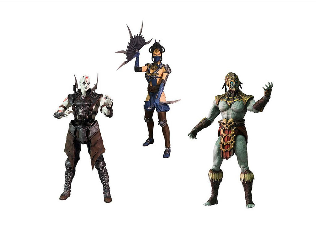 Mortal Kombat X Series 2 Quan Chi, Kotal Kahn, Kitana 6-Inch Action Figures Set of 3 by Mezco Toyz