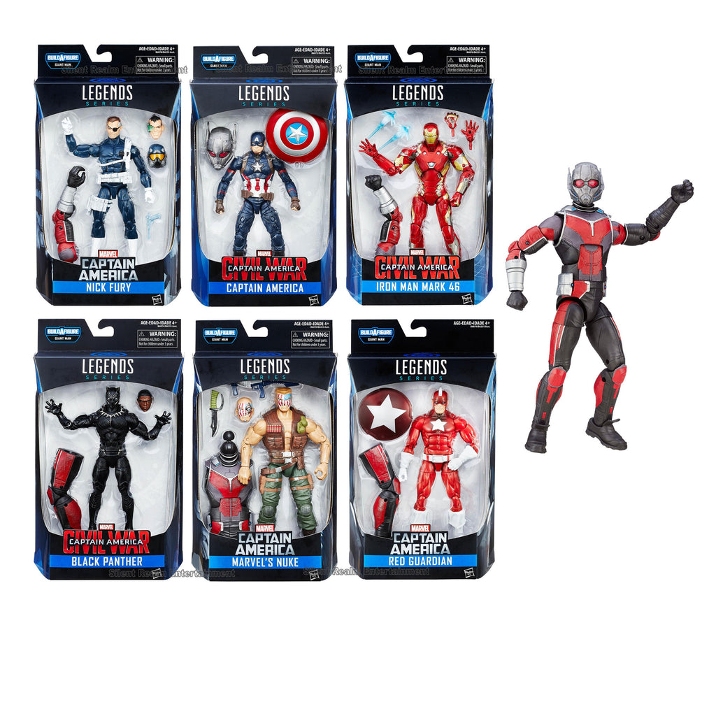 Captain America Civil War Marvel Legends Figures Complete Set with Giant Man Build-a-Figure - Hasbro - Hasbro