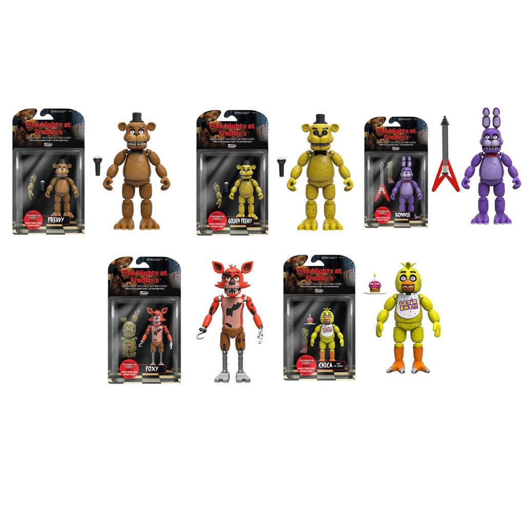 Five Nights at Freddy's 5-inch Action Figure Complete Set w/ Springtrap Build-A-Figure - Funko - Funko
