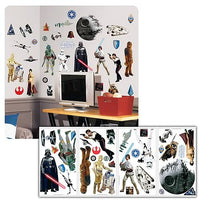 Star Wars Classic Peel and Stick Wall Applique - 31 Decals - RoomMates - RoomMates