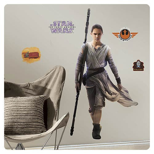 Star Wars Episode VII The Force Awakens Rey Giant Wall Vinyl Decal 13pc by RoomMates