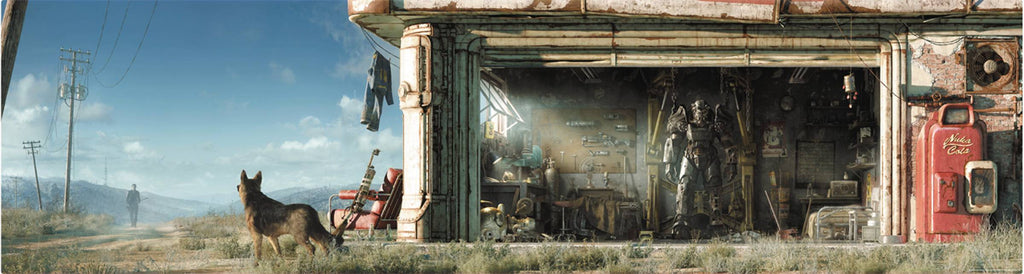 "Fallout 4 Key Art Wall Wrap Poster Panoramic 50"" x 13"" - FanWraps - FanWraps"