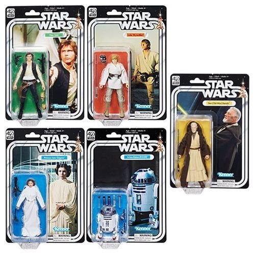 Star Wars Episode IV A New Hope Black Series 40th Anniversary 6-Inch Action Figures by Hasbro