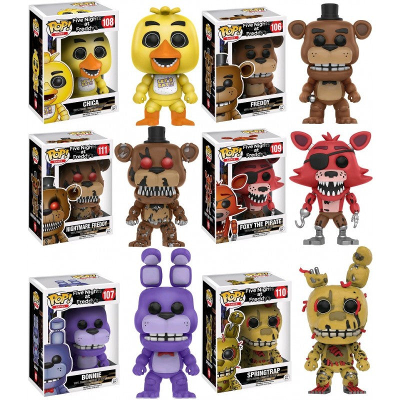 Five Nights at Freddy's Pop! Vinyl Figures Set of 6 - Funko - Funko