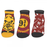 Harry Potter Ankle Socks 3-pk - Bioworld - Bioworld
