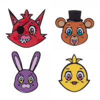 Five Nights at Freddy's Lapel Pin Set of 4 by Bioworld