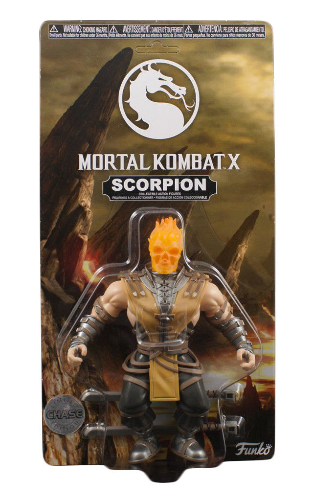 "Mortal Kombat X Scorpion 3 3/4"" CHASE VARIANT Savage World Action Figure by Mezco Toyz"
